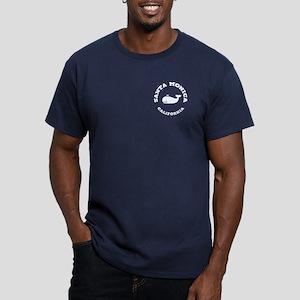Santa Monica Whaling Men's Fitted T-Shirt (dark)