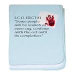 E.C.O. Edict #1 baby blanket