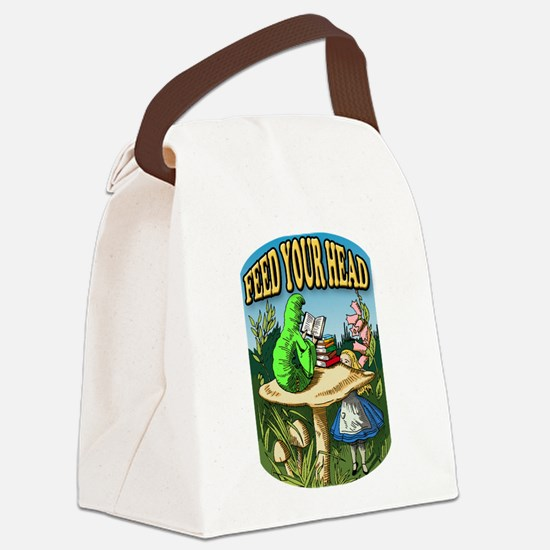 Feed Your Head Canvas Lunch Bag