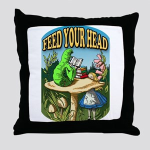 Feed Your Head Throw Pillow