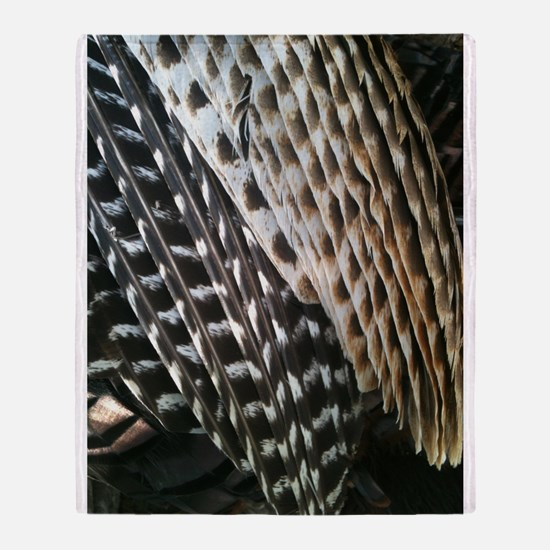 Turkey Feathers Throw Blanket