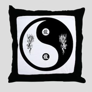 Dragon Ying Yang Throw Pillow
