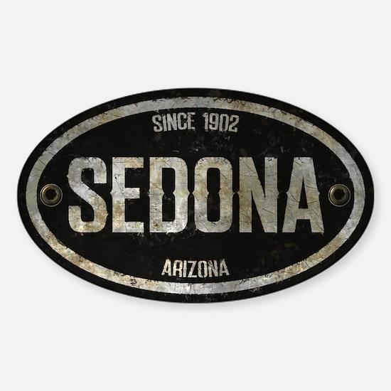 Sedona Silver Metal Grunge Oval