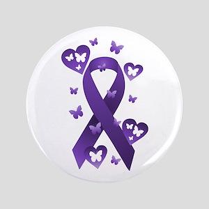"Purple Awareness Ribbon 3.5"" Button"