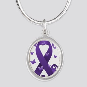 Purple Awareness Ribbon Necklaces