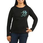 Nifty 50 Women's Long Sleeve Brown T-Shirt