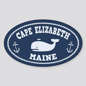 Cape Elizabeth Whaling Sticker (Oval)