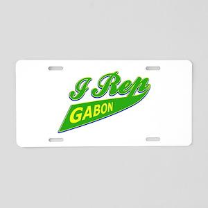 I rep Gabon Aluminum License Plate