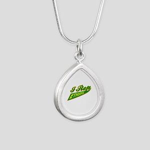 I rep Ethiopia Silver Teardrop Necklace
