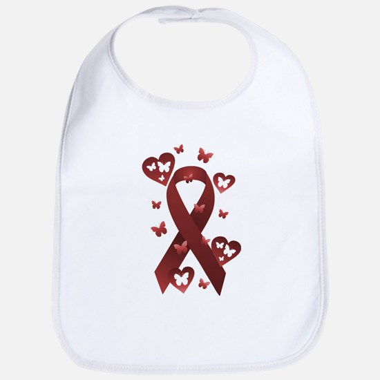 Red Awareness Ribbon Bib