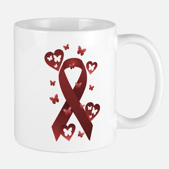 Red Awareness Ribbon Mug