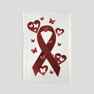 Red Awareness Ribbon Rectangle Magnet