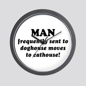 Saying: Move To Cathouse Wall Clock