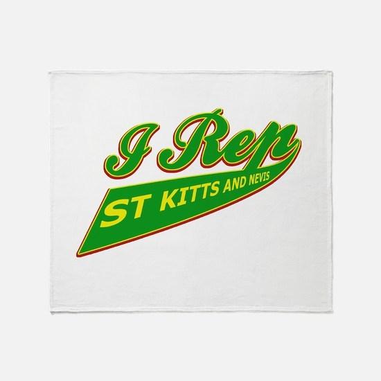 I rep Saint Kitts Throw Blanket