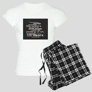 putting us on... Pajamas