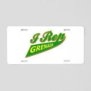 I rep Grenada Aluminum License Plate