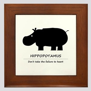 Hippopotamus Framed Tile