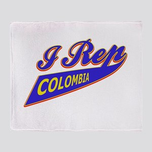 I rep Colombia Throw Blanket