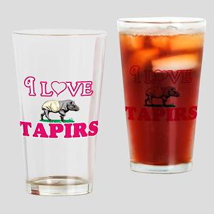 I Love Tapirs Drinking Glass