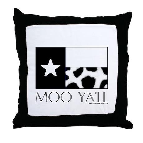 Moo Ya'll Throw Pillow