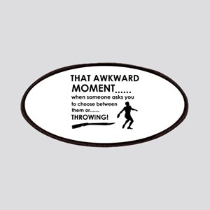 Discus throw sports designs Patches