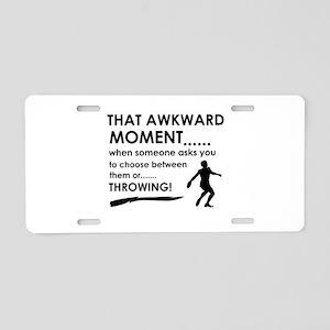 Discus throw sports designs Aluminum License Plate