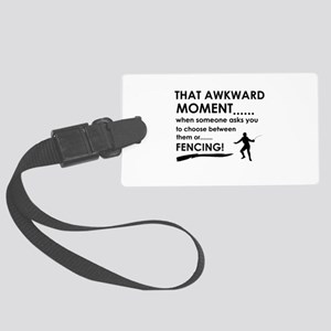 Fencing sports designs Large Luggage Tag