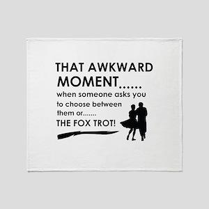 Fox Trot sports designs Throw Blanket