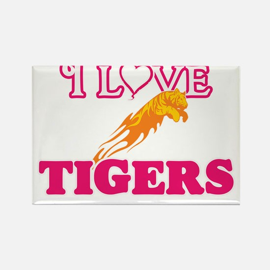 I Love Tigers Magnets