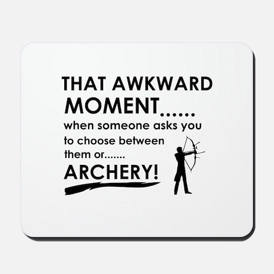 Archery sports designs Mousepad