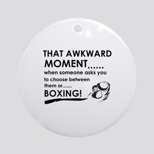 Boxing sports designs Ornament (Round)