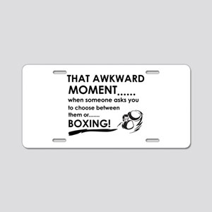 Boxing sports designs Aluminum License Plate