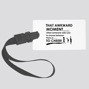 Cheer sports designs Large Luggage Tag