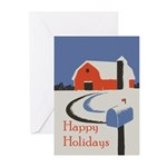 Winter (Blank inside) Greeting Cards (Pack of 6)
