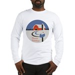 Winter Snow on Barn Long Sleeve T-Shirt