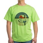 Winter Snow on Barn Green T-Shirt