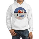 Winter Snow on Barn Hooded Sweatshirt