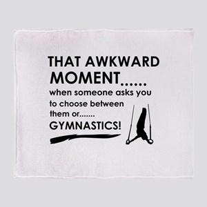 Gymnastics sports designs Throw Blanket