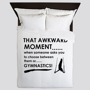 Gymnastics sports designs Queen Duvet