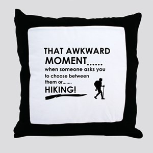 Hiking sports designs Throw Pillow
