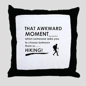 Hiking sports designs Throw Pillow