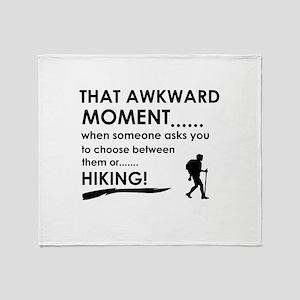 Hiking sports designs Throw Blanket