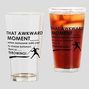 Javelin Throw sports designs Drinking Glass