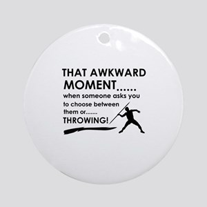 Javelin Throw sports designs Ornament (Round)