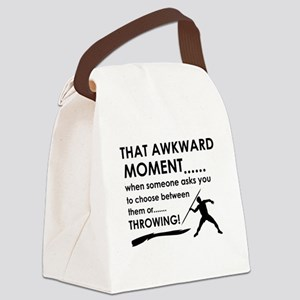 Javelin Throw sports designs Canvas Lunch Bag