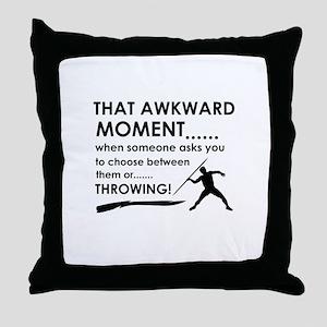 Javelin Throw sports designs Throw Pillow