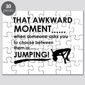 Jumping sports designs Puzzle