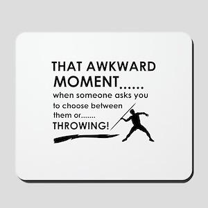 Javelin Throw sports designs Mousepad