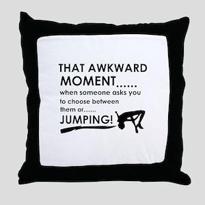 Jumping sports designs Throw Pillow