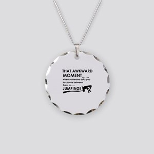 Jumping sports designs Necklace Circle Charm
